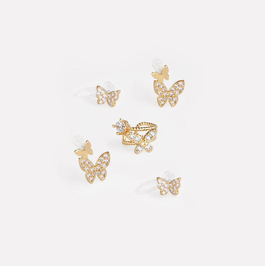 Butterfly Dream Earrings Stack Set - earaclips