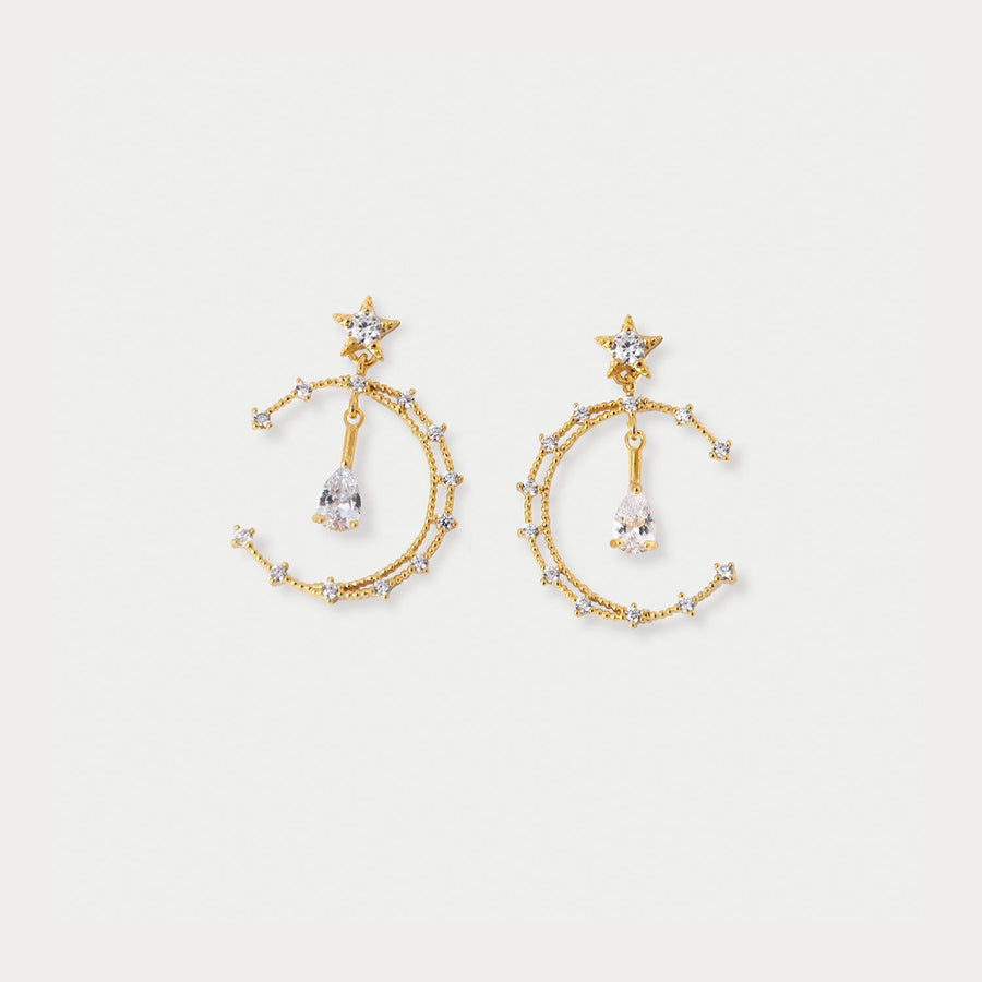 Celeste Hoops Clip-on Earrings in Gold - earaclips
