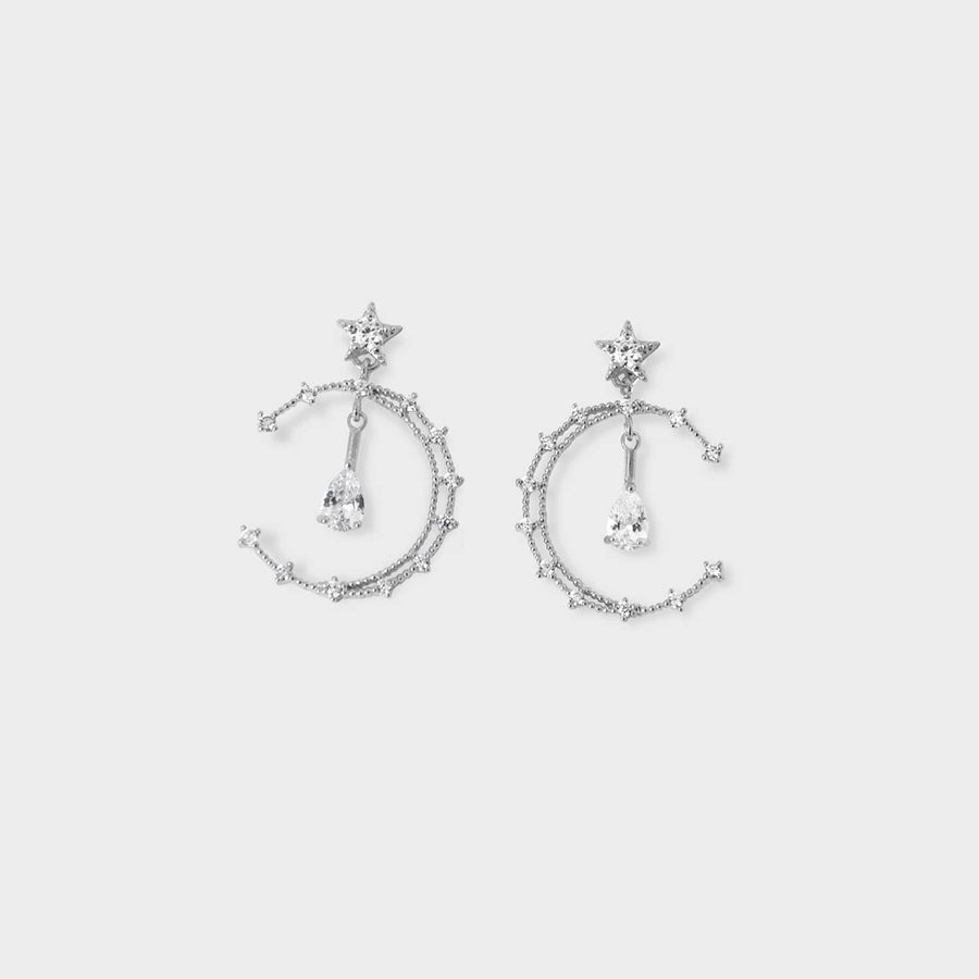Celeste Hoops Clip-on Earrings in Silver - earaclips