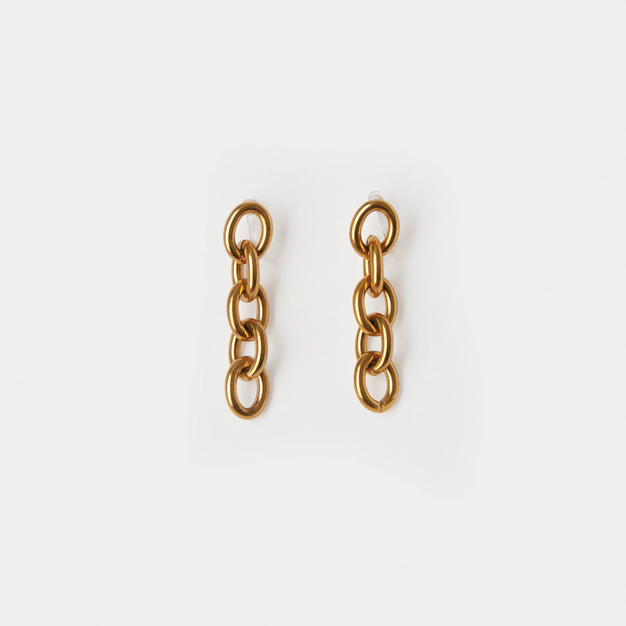 Gia Gold Chain Clip-on Drop Earrings - Eara Clips
