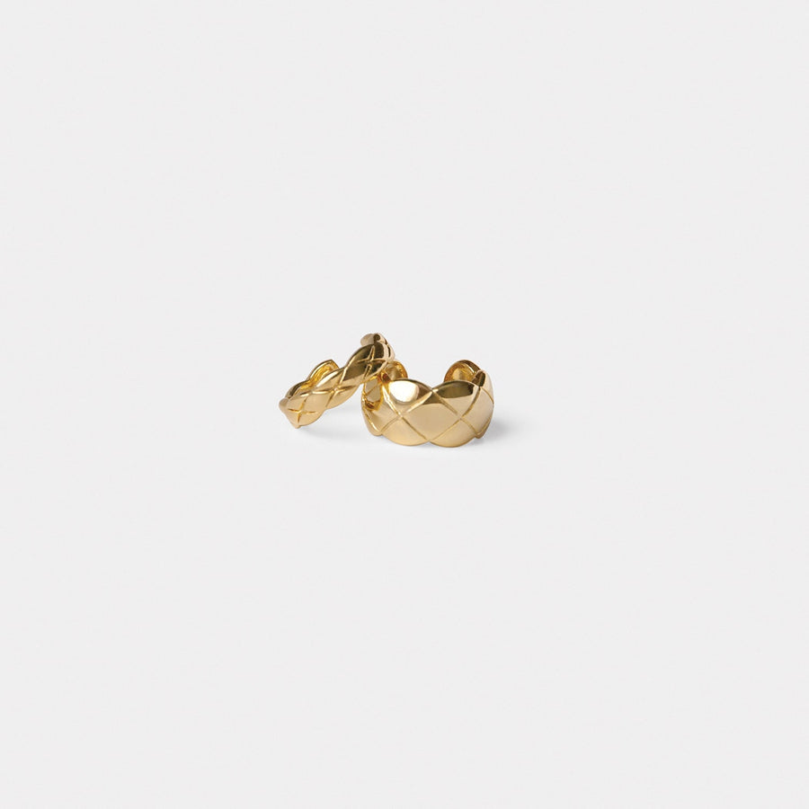 Hera Quilted Cuff Set in Gold - Eara Clips