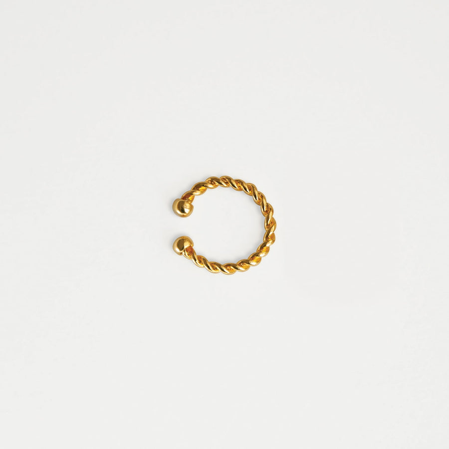 Golden Cord Ear Cuff - earaclips