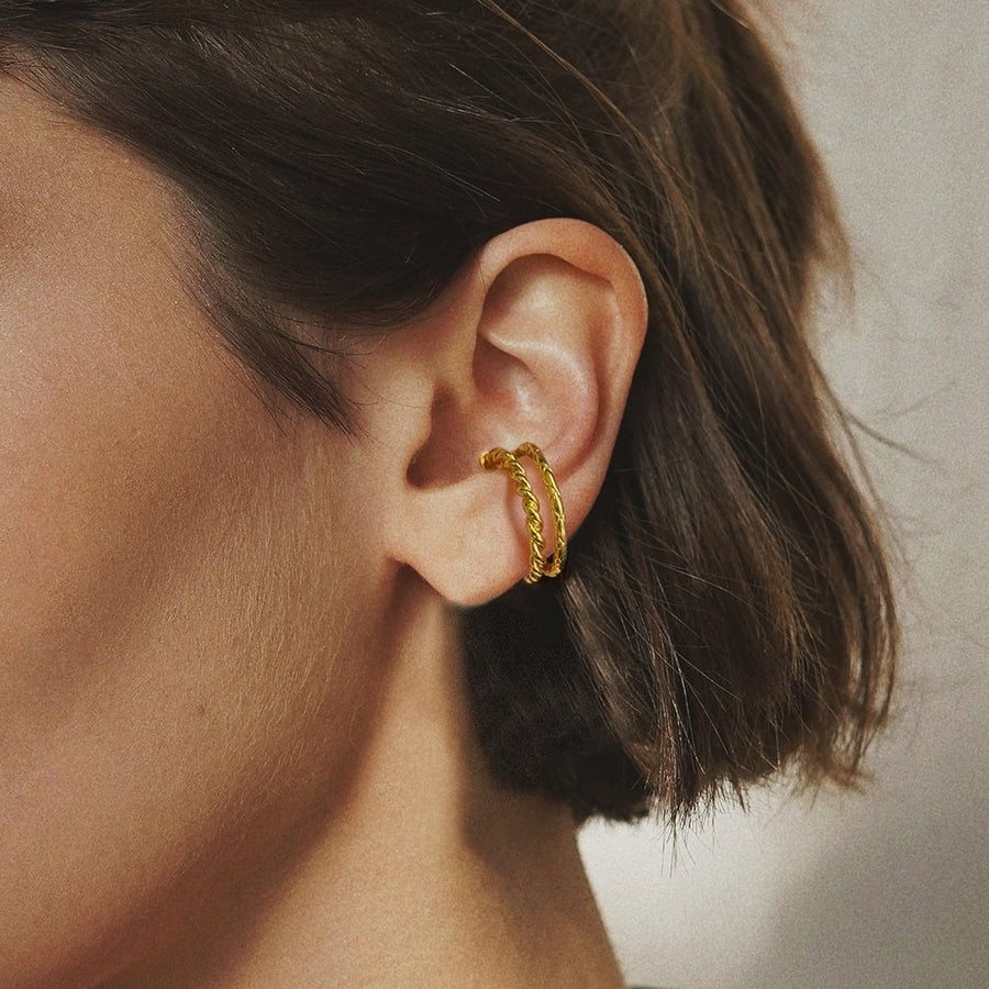Golden Cord Ear Cuff - Eara Clips