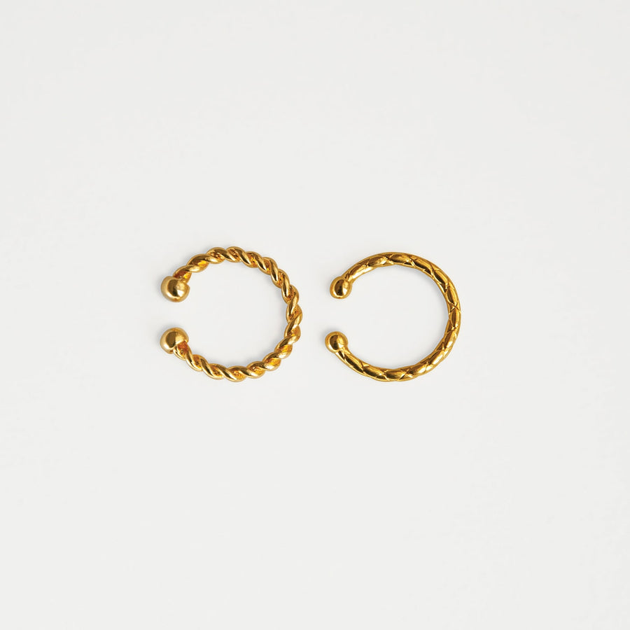 Golden Classics Ear Cuff Set - earaclips