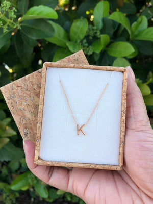 Sterling Silver Single Initial Necklace - The Weekend Flow - Houston Florals and Fine Jewelry