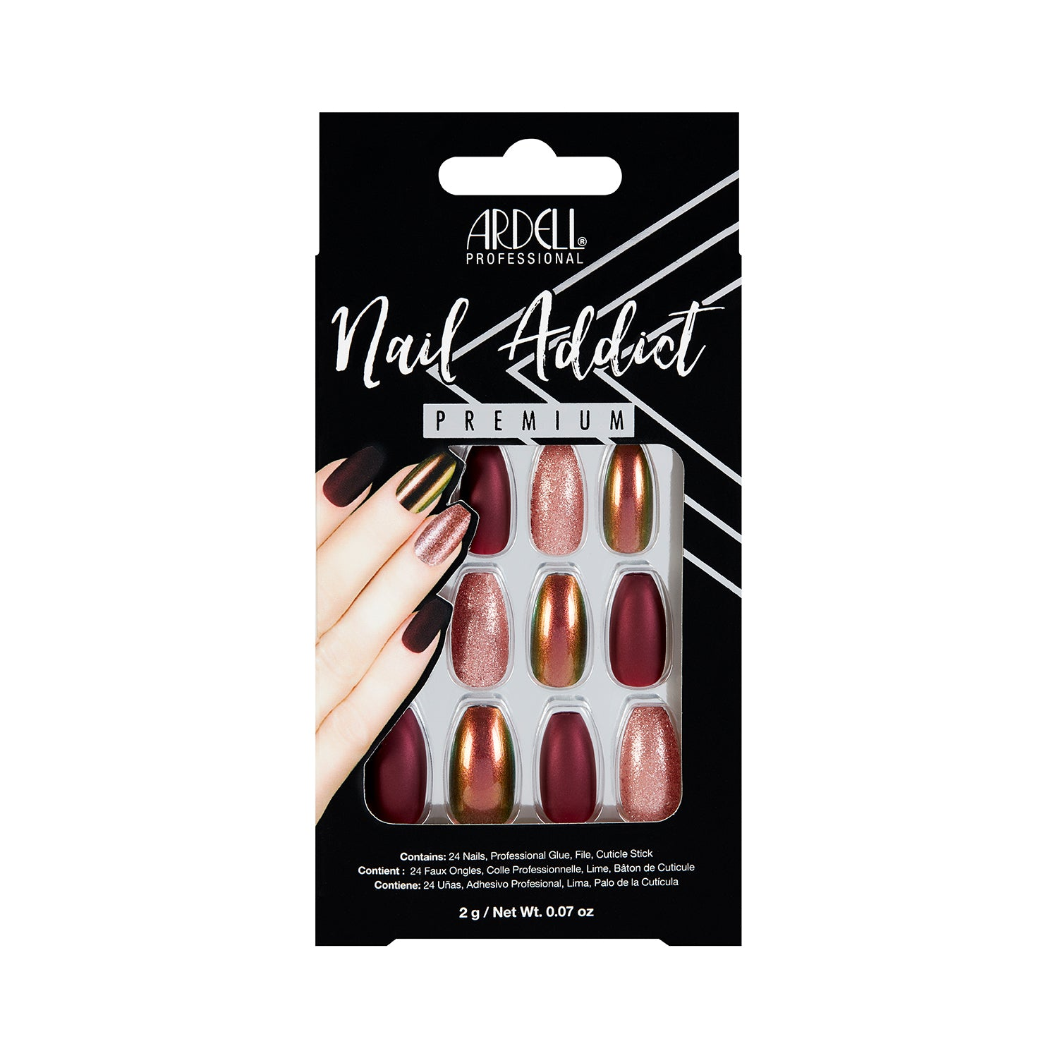 Ardell Nail Addict Red Cateye