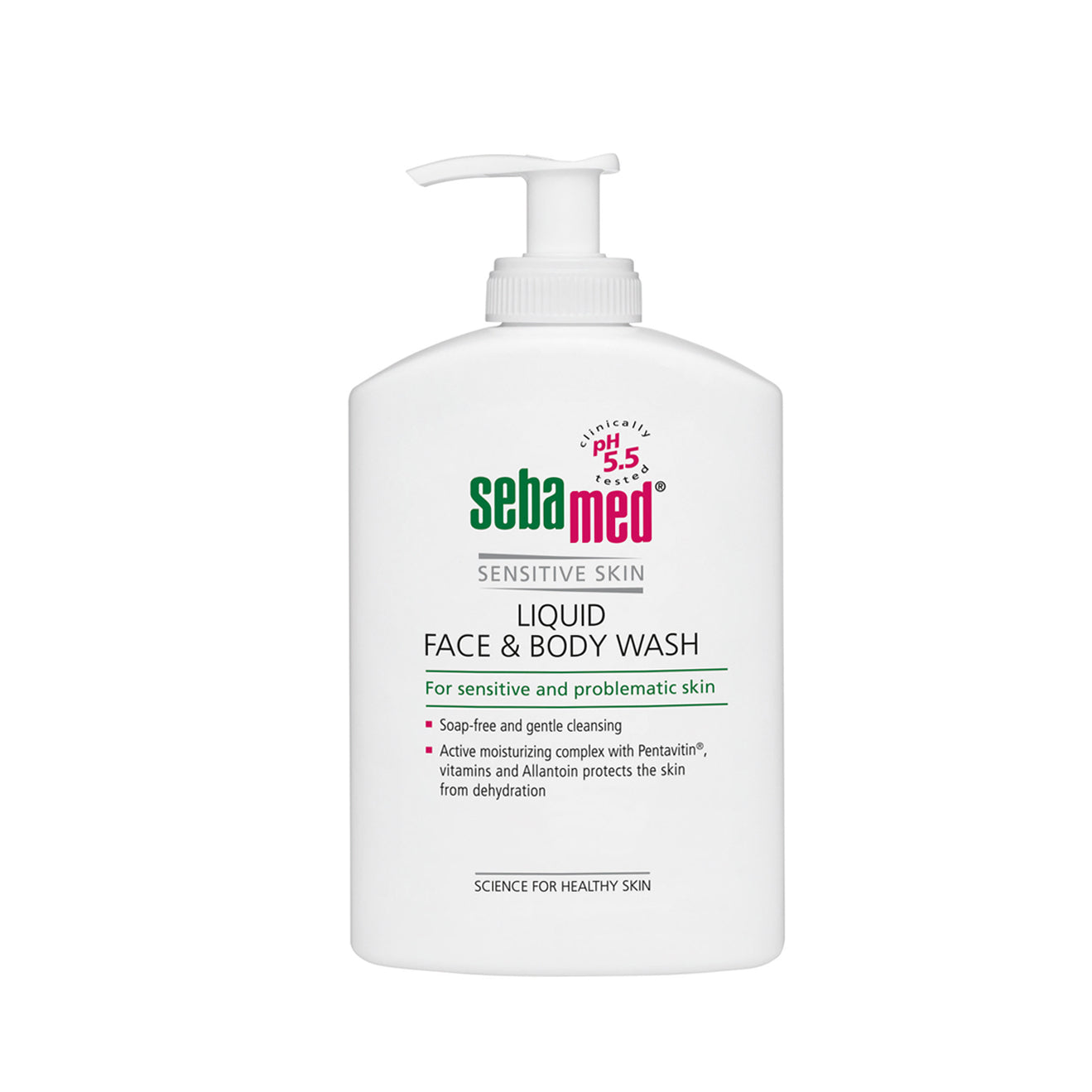 sebamed Liquid Face and Body Wash 1L Pump