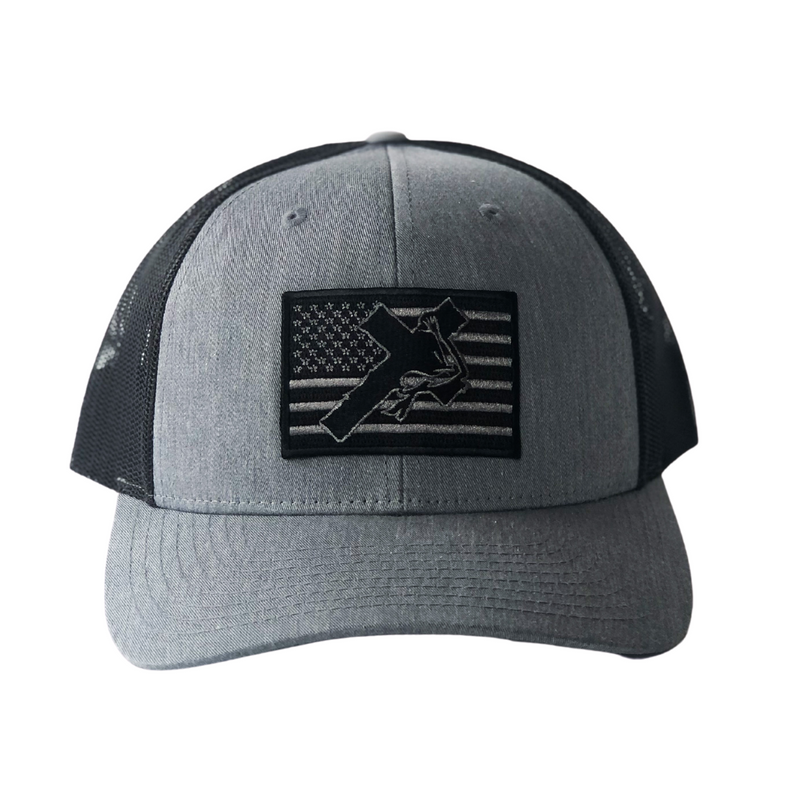 GREY / BLACK FLAG HAT