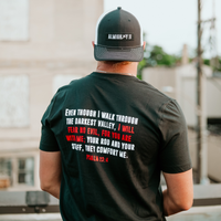FEAR NO EVIL TEE - BLACK - PSALM 23:4
