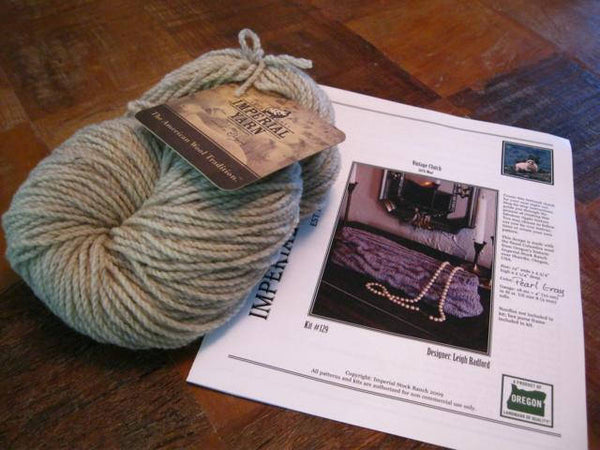 Imperial Yarns - Leigh Radford Vintage Clutch Kit - Pearl Gray