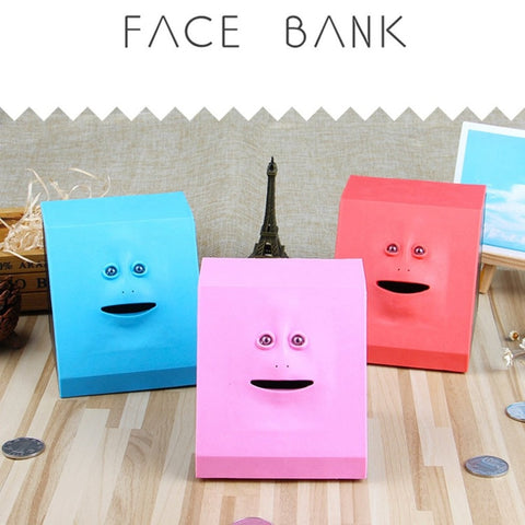 Cute Face Coins Bank