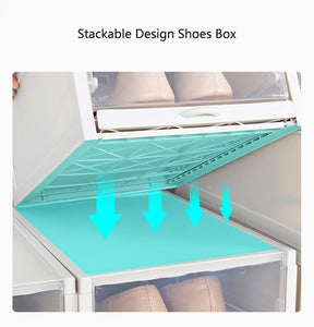 New Push-pull Shoes Box Rack(3pc/set)