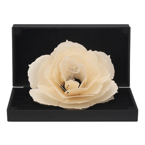 3D Pop Up Red Rose Flower Ring Box