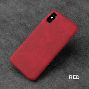 Leather Skin Soft TPU Case