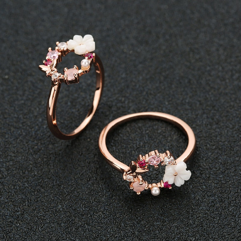 Creative Flowers Ring