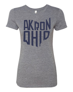 Akron, Ohio T- Shirt [Women]