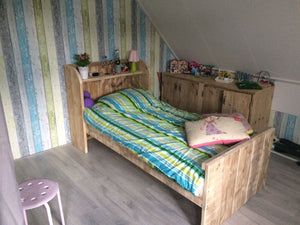 Steigerhouten bed Indy