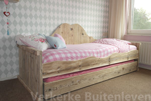 Steigerhout bed Kate