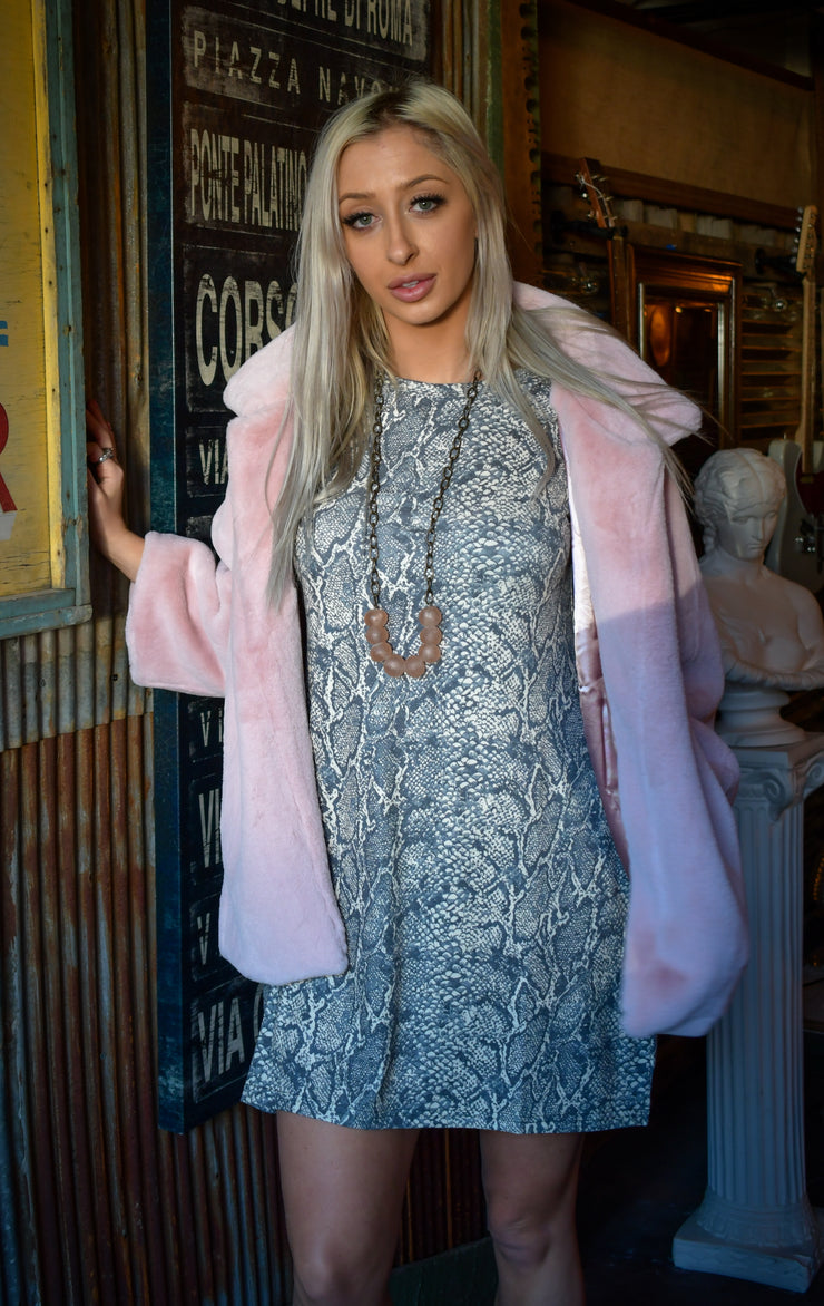 Reece Faux Fur 3/4 Sleeve Coat - [product_style] - Outerwear - WILLOWTREE MARKET