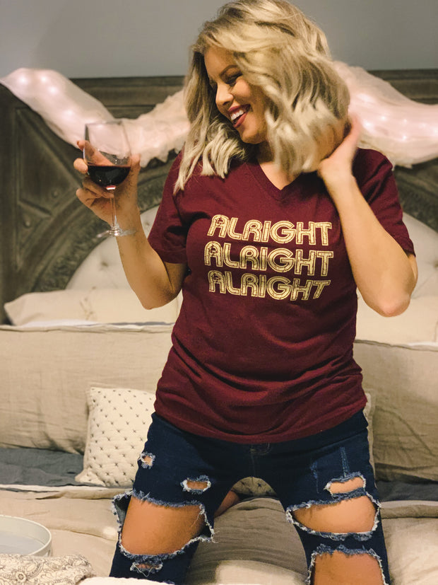 ALRIGHT ALRIGHT ALRIGHT TEE - [product_style] - Tops - WILLOWTREE MARKET