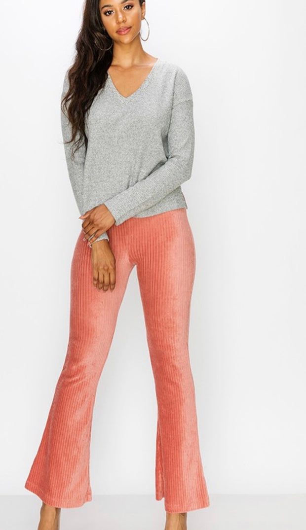 Velvet Corduroy High Waisted Flare - [product_style] - Bell Bottoms - WILLOWTREE MARKET