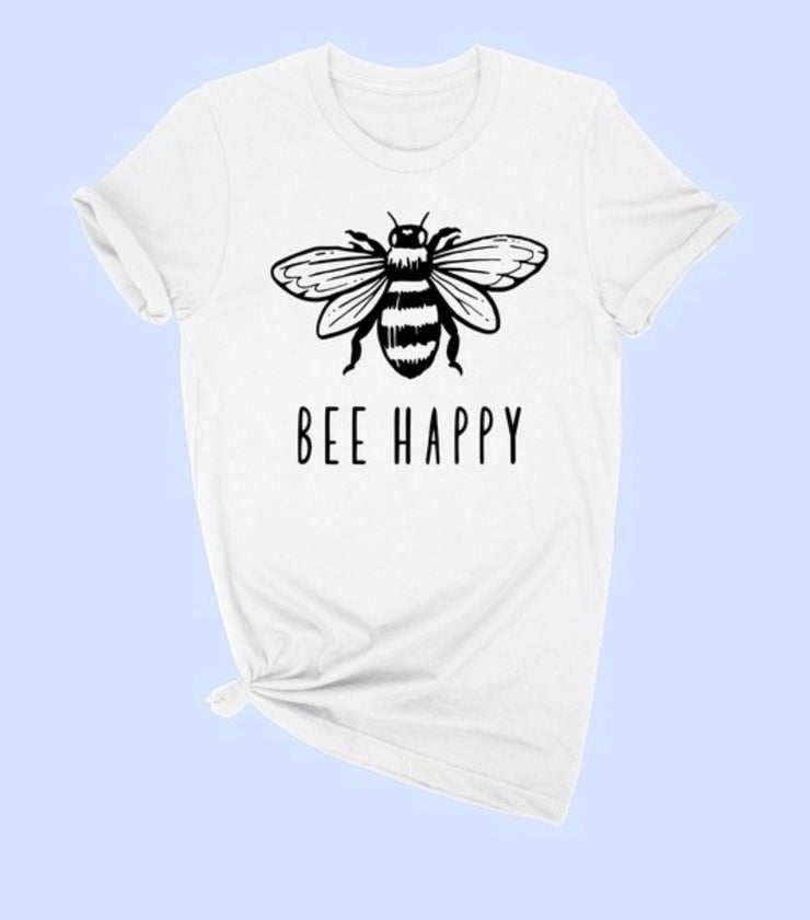 Bee Happy Tee - [product_style] - Tops - WILLOWTREE MARKET