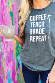 Coffee, Teach, Repeat Tee - [product_style] - Default - WILLOWTREE MARKET