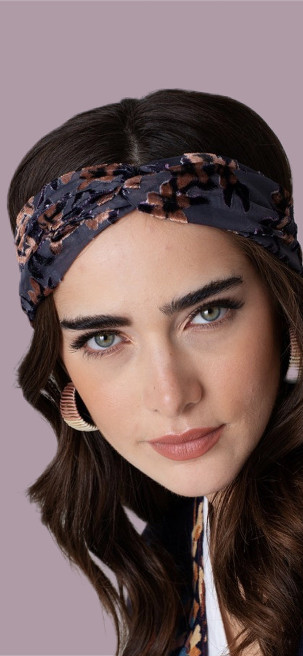 Floral Velvet Headband - [product_style] - Default - WILLOWTREE MARKET