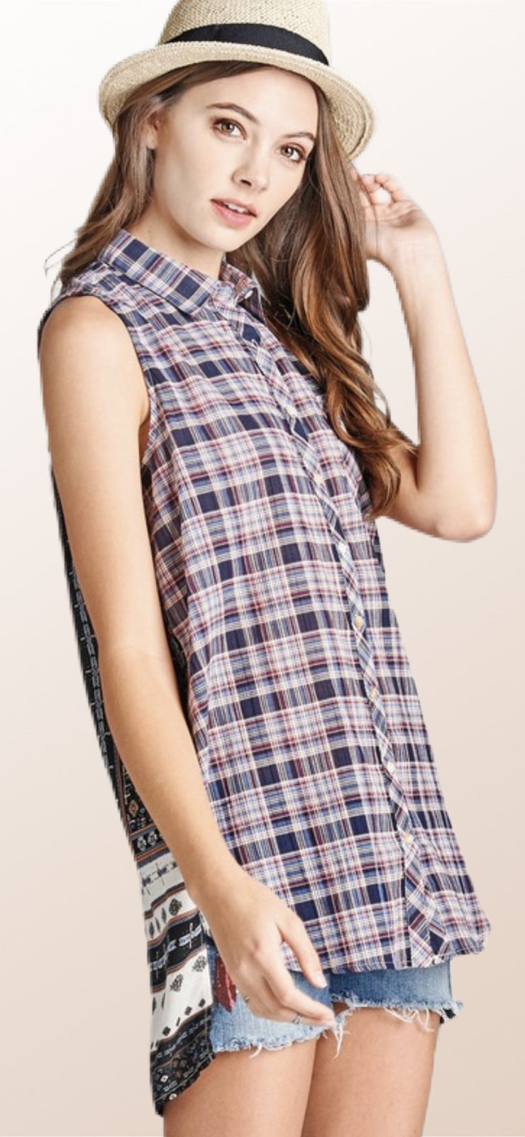 Priscilla Plaid Top - [product_style] - Tops - WILLOWTREE MARKET