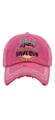 Girl's Just Wanna Have Sun Hat