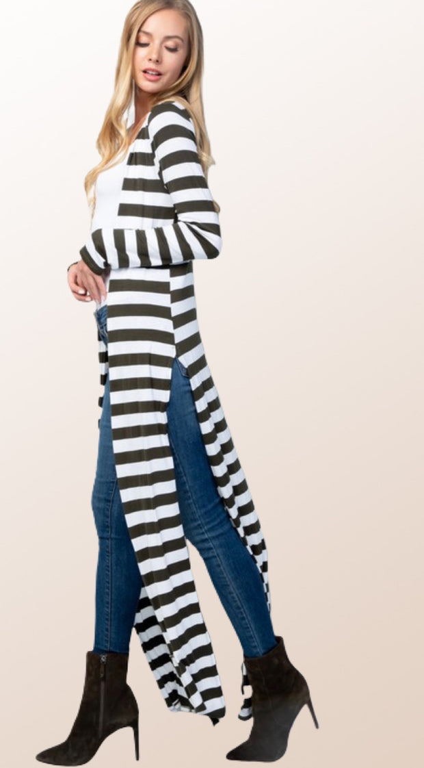 Stacy Striped Duster - [product_style] - Duster, Clothing - WILLOWTREE MARKET