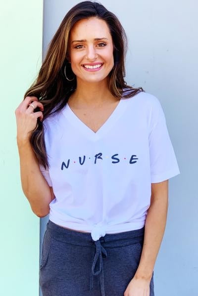Nurse Friends V-Neck Tee - [product_style] - Default - WILLOWTREE MARKET