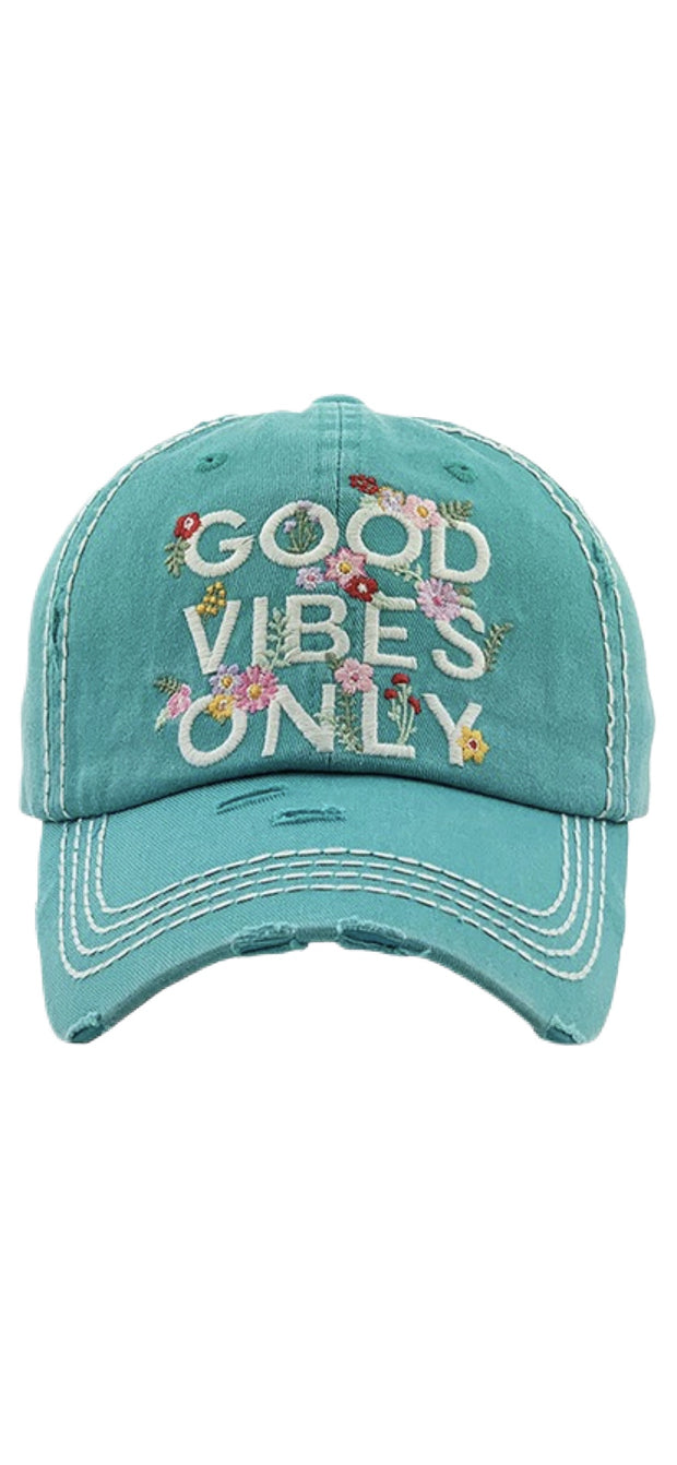 Good Vibes Only Ball Cap - [product_style] - Hats - WILLOWTREE MARKET