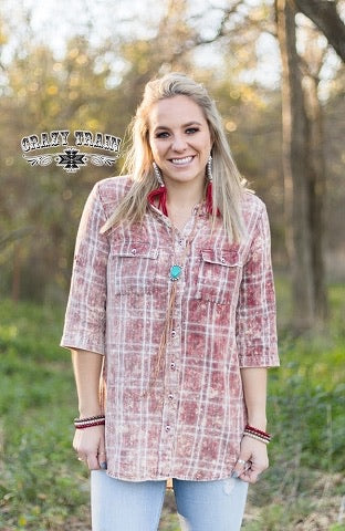 Red Patsy Plaid Tunic - [product_style] - Tops - WILLOWTREE MARKET