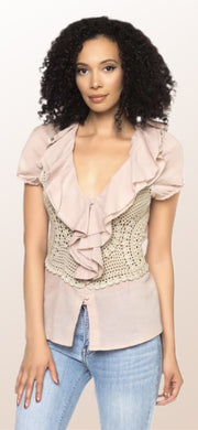Khaki Corset Back Top - [product_style] - Tops - WILLOWTREE MARKET