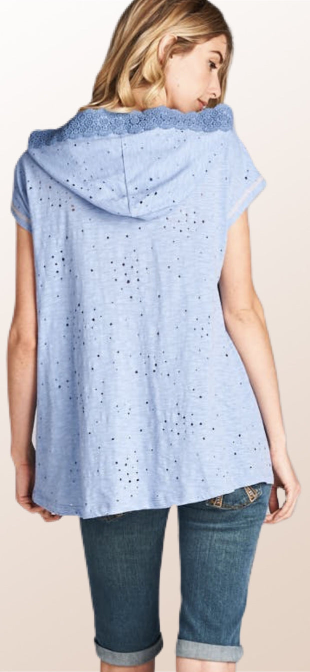 Lexi Lace Distressed Top - [product_style] - Default - WILLOWTREE MARKET