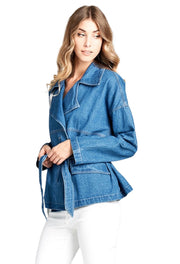 Molly Belted Denim Jacket - [product_style] - Outerwear, Clothing - WILLOWTREE MARKET