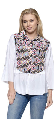 Geo Casual Top - [product_style] - Tops, Clothing - WILLOWTREE MARKET