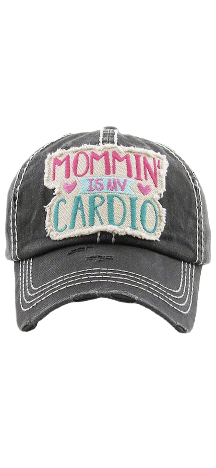 Mommin' Is My Cardio Ball Cap - [product_style] - Hats - WILLOWTREE MARKET