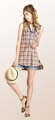Penelope Plaid Top - [product_style] - Tops - WILLOWTREE MARKET