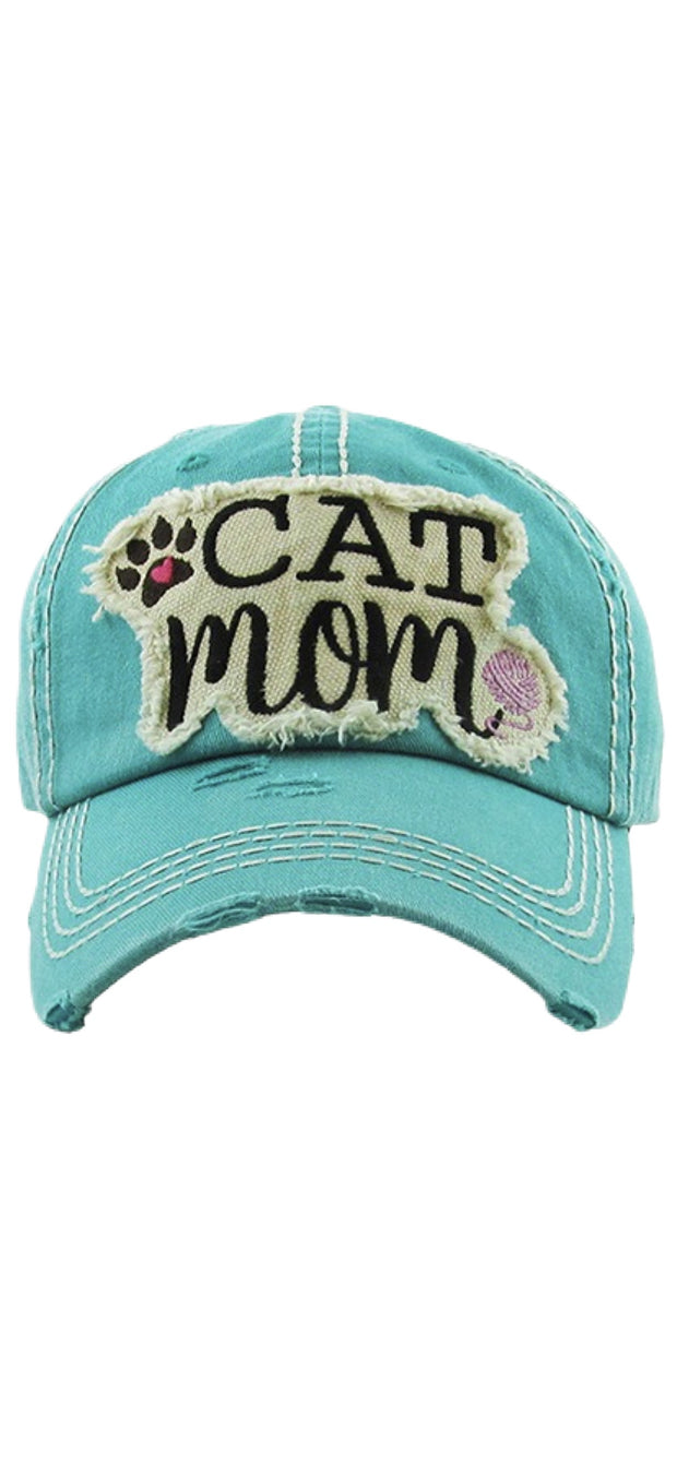 Cat Mom Ball Cap - [product_style] - Hats - WILLOWTREE MARKET