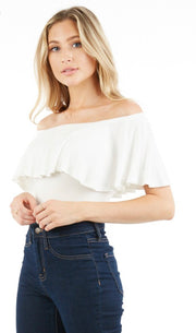 Nola Off Shoulder Bodysuit - [product_style] - Default - WILLOWTREE MARKET