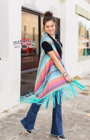 A Girl's Vest Fringe Serape Vest - [product_style] - Vest - WILLOWTREE MARKET