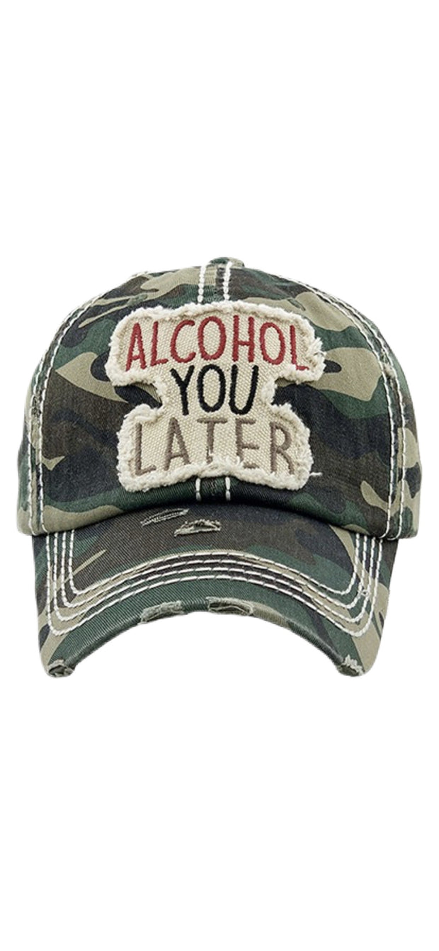 Alcohol You Later Ball Cap - [product_style] - Hats - WILLOWTREE MARKET