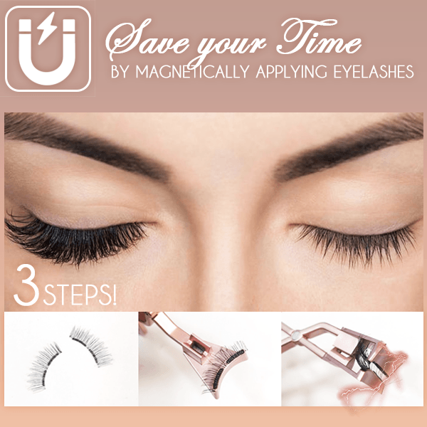 [💋Last Day Promotion & Ship on time] Lasher Magnetic Lashes Clip & Eyelashes Set