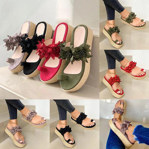 Women Casual Daily Flower Slip On Platform Sandals - 💥50% OFF - Early Spring Promotion