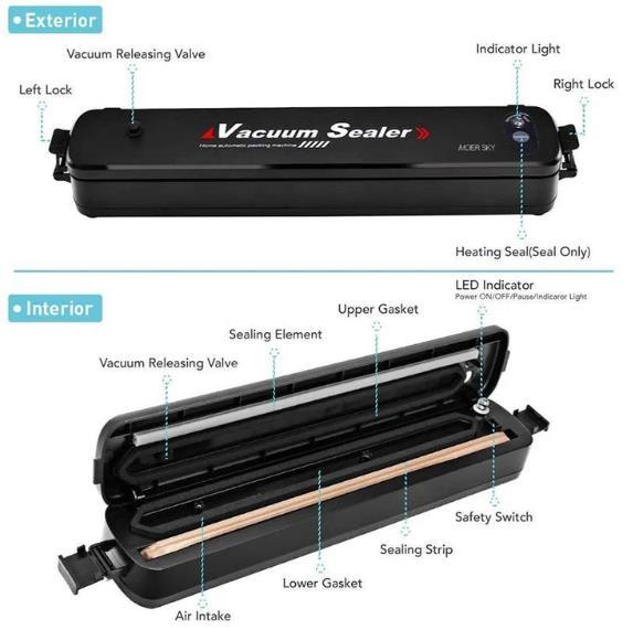 Vacuum Sealer Machine-Get 15pcs Sealing Bags For Free - 💥50% OFF - Early Spring Promotion