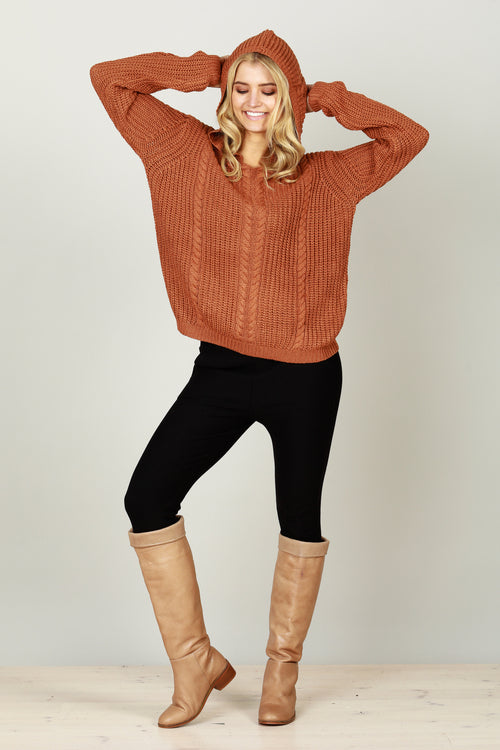 Brave + True - Unwind jumper - Terracotta