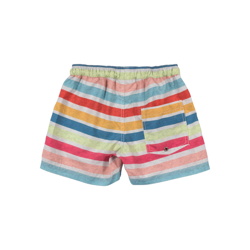 Paper Wings - Short Boardshorts - Coloured Stripe