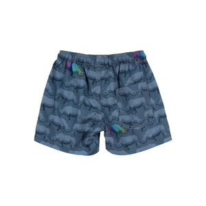 Paper Wings - Short Boardshorts - Rainbow Rhino